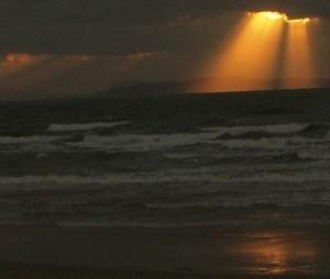 福間海岸の夕焼け