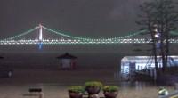 釜山湾の夜景